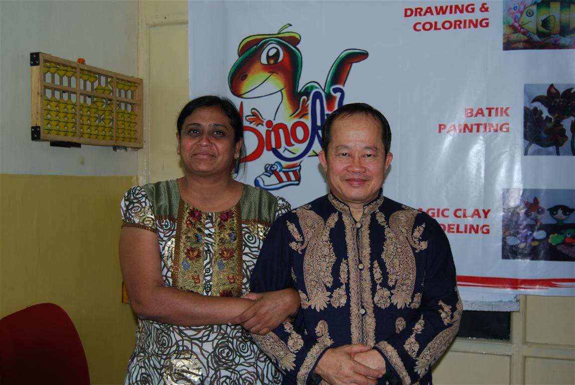 Prof Dr Dino Wong with Kinjal Patel